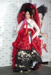 Miss Korea 2010 Kim Joo-ri poses for photographers in her national costume at the Mandalay Bay Resort and Casino in Las Vegas, Nevada