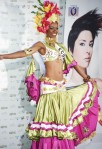 Miss Ecuador Lady Mina poses in her national costume at the Mandalay Bay Resort and Casino in Las Vegas