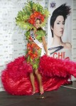Miss Guam Vanessa Torres poses in her national costume at the Mandalay Bay Resort and Casino in Las Vegas