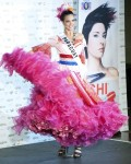 Miss Paraguay Yohana Benitez Olmedo poses in her national costume at the Mandalay Bay Resort and Casino in Las Vegas
