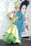 Miss South Africa 2010 Nicole Flint poses during the Miss Universe national costume event in Las Vegas