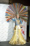 Miss Kazakhstan 2010 Asselina Kuchukova poses during the Miss Universe national costume event in Las Vegas
