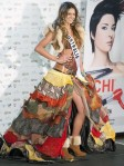 Miss Australia Jesinta Campbell poses in her national costume at the Mandalay Bay Resort and Casino in Las Vegas