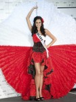 Miss Poland 2010 Maria Nowakowska poses during the Miss Universe national costume event in Las Vegas