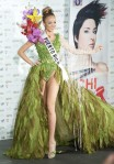 Miss Puerto Rico Mariana Paola Vicente poses in her national costume at the Mandalay Bay Resort and Casino in Las Vegas