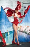 Miss Curacao Safira de Wit poses in her national costume at the Mandalay Bay Resort and Casino in Las Vegas