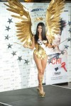 Miss USA Rima Fakih poses in her national costume at the Mandalay Bay Resort and Casino in Las Vegas