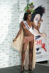 Miss Guyana Tamika Henry poses in her national costume at the Mandalay Bay Resort and Casino in Las Vegas