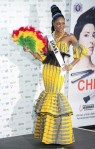 Miss Ghana Awurama Simpson poses in her national costume at the Mandalay Bay Resort and Casino in Las Vegas