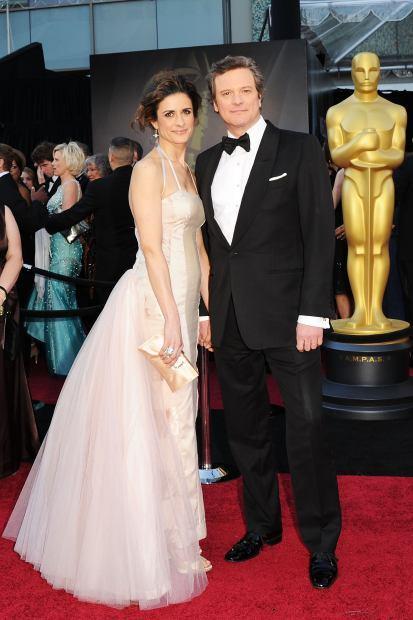 Colin Firth berpose bersama sang istri Livia Giuggioli
