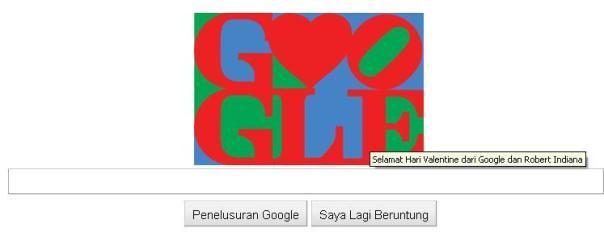 Hari Valentine - Logo Google Hari ini