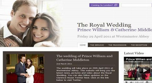 Homepage Situs pernikahan Prince William & Catherine Middleton