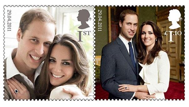 Perangko Pangeran William dan Kate Middleton untuk merayakan pernikahan Pangeran William dan Kate Middleton dengan satu set baru perangko yang menampilkan potret pertunangan resmi mereka. Dua gambar dari pasangan yang diambil oleh fotografer fashion dan selebriti Mario Testino akan dicetak sebagai set perangko peringatan.